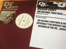 "Mariah Carey - We Belong Together- Remix 2005 UK Promo 12"" Vinyl & Press Sheet."