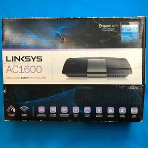 Linksys EA6400 AC1600 Dual-Band Smart Wi-Fi Router - Black ⚡✈️ SHIPS SAME DAY
