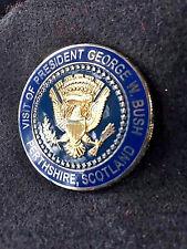 Authentic Visit of Pres.GW Bush '05 G8 Scotland Coin  #43