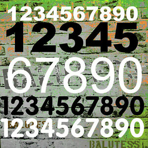NEU Selbstklebende Zahlen Briefkasten Startnummer Mülltonne Klebezahl Hausnummer