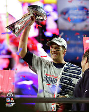 Tom Brady Vince Lombardi Trophy Super Bowl XLIX LICENSED Photo *RARE PHOTO*
