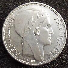 France : Superbe 20 francs Turin 1938 en argent
