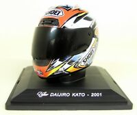 Altaya 1/5 Scale - Daijiro Kato 2001 Shoei Moto GP Helmet with Plinth and Case