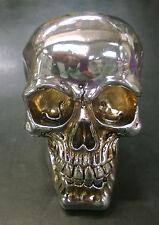 Halloween Skull Skeleton head Metal Look Terminator Style Ornament Money Bank