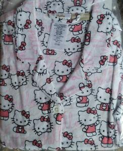 "Pottery Barn Teen HELLO KITTY® Organic Flannel Pajamas SMALL 5' to 5'3"" Tall NEW"
