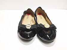 New Michael Kors Women Sz 6 Black Ballerina Ballet Leather Flat Shoe