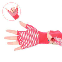 1 Paar halbe Finger Yoga Handschuhe Fitness Lady rutschfeste professionelle Spo