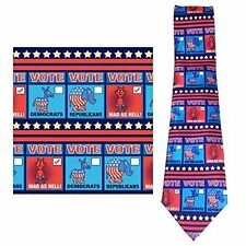 Funny Election Necktie - Mad As Hell - Funny Political Ties -  26044