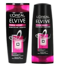 L'Oreal Elvive Triple Resist Reinforcing Shampoo & Conditioner 400ml Each Ladies