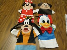 Disney Plush Hand Puppets Mickey & Minnie Mouse Donald Duck Goofy Set of Four