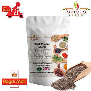 Premium Quality Ground Black Pepper Coarse  Fresh Organic Spices Fast Free P&PUK