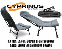 Cyprinus Extra Large Wide Reclining fold up Carp Coarse fishing Chair seat