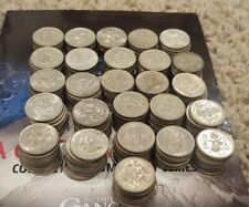 MEXICO lot SILVER 25 CENTAVOS vintage world foreign Mexican 10 COINS
