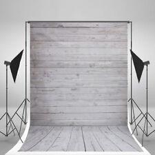 5X7FT Newborn Grey Wood Wall Vinyl Cloth Photography Backdrop Photo Background