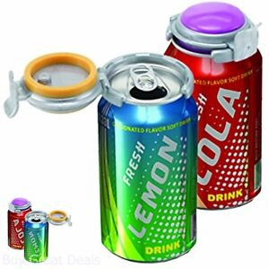 Can Soda Keeper Canned Drinks Soft Drink Cover Spill Pressure Saver Set New