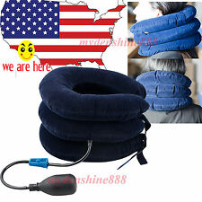 USA Adjust Inflatable Neck Stretcher Shoulder Pain Relief Back Tension Traction