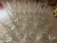 Mid-century bar glassware - 8 Highball and 8 old fashioned glasses