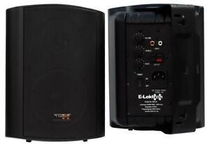 E-Lektron EWL5A Aktiv-Lautsprecher Satz Wand-Lautsprecher Boxen Paar Schwarz