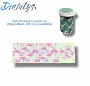 Accu-chek Aviva Test Pot Sticker Decal - Flamingos