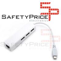 Hub Ethernet LAN Hub Micro Usb Otg Raspberry Pi Zero Rpi Tablet Movil SP