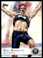 2012 TOPPS OLYMPICS SILVER MIKE MORRISON DECATHLON #63 PARALLEL