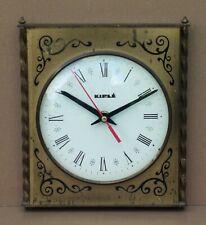Pendule KIPLE vintage METAL DORE ancien horloge pendulette MARCHE old clock