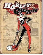 Harley Quinn Suicide Squad Superhero DC Comic Disstressed Decor Metal Tin Sign