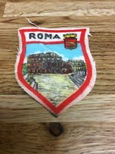 Vintage Italian Roma Ucolosseo Fabric Patch