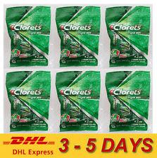 6 x Clorets Actizol Plus Cool Mint Candy Flavored Freshness Fresh Breath 30g.