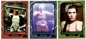 Star Wars Galactic Files Series 2 SP Variation Cards x3, Han, Luke, Slave Leia