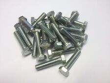 QTY 10 M7 X 12 HEX SET BOLTS FULLY THREADED 8.8 HIGH TENSILE BRIGHT ZINC PLATED