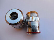 4X 195 Bio-Microscope Plan Achromatic Objective Lens with Knurled Ring 160/0.17
