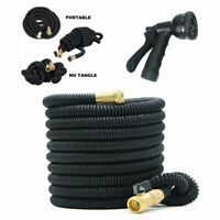 3X Stronger Deluxe Expandable Flexible Garden Water Hose 50ft + Nozzle Sprayer