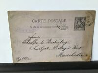 france 1884 used stamps card Ref R28280