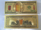Gold Banknote Beer Money Bar Signs Cans Pub Vintage Tins Gifts Neon Metal Pub