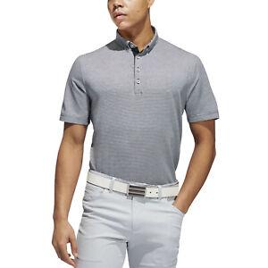 adidas Performance Mens Adipure Double Dyed Ottoman Golf Polo Shirt - M