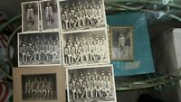 Lot of 8 WWI Group Photo Of Soldiers With Swords, Rifles, Photos & Photo Prints