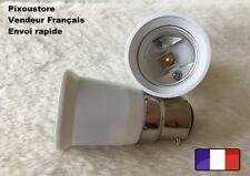 Lot de 2 adaptateurs douille B22 male  - E27 femelle pour ampoule culot neuf