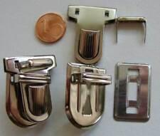 1 FERMOIR Cartable Clic argenté 33x25mm mercerie couture sac sacoche