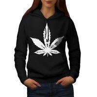 Wellcoda Music 42 Weed Leaf Womens Hoodie, Addicted Casual Hooded Sweatshirt