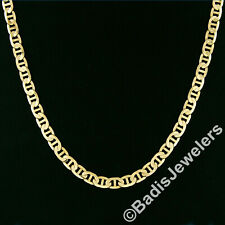 "Italian Men's 10K Yellow Gold 22"" 6.4mm Gucci Link Chain Necklace Lobster Clasp"