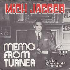 """Single 7"""" Mick Jagger """"Memo from Turner/Natural Magic"""""""