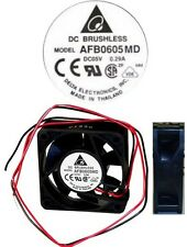 "2.36""x0.79""inch Double Ball Bearing 60mm*20mm Delta AFB0605MD 5VDC/5V Fan 2wire"