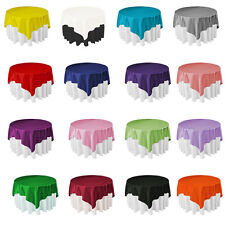 Square Satin Table Cover Cloth Wipe Clean Tablecloth Rectangle Covers Cloths