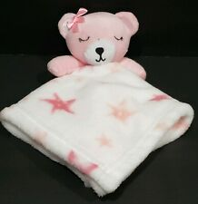 SL Home Fashions Pink and White Teddy Bear Star Lovey Baby Security Blanket S.L.