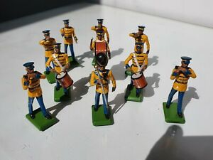 Britains Military Marching Band 1986 10 Figures