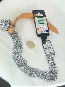 Dog Collar 2.5mm - 65cm Neck Triple Metal Chain Strong New Karlie Rondo XL
