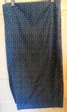 Vintage Blue Cotton Trefoil Fabric Four Yards 35 Inches Wide 1959 Condotti Inc.