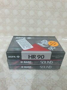 BASF & AGFA Sound - 90 Ferric 90 Minutes Blank Audio 3x Cassette Tapes