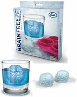 brain shaped ICE cube tray-  BRAIN FREEZE soft silicone tray by Fred -new in box
